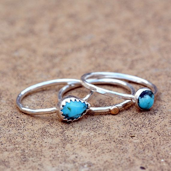 turquoise stacking ringsAccessories Jewelry, Turquoise Stacked, Turquois Stacked, Stacked Rings, Women Accessories, Perfect Accessories