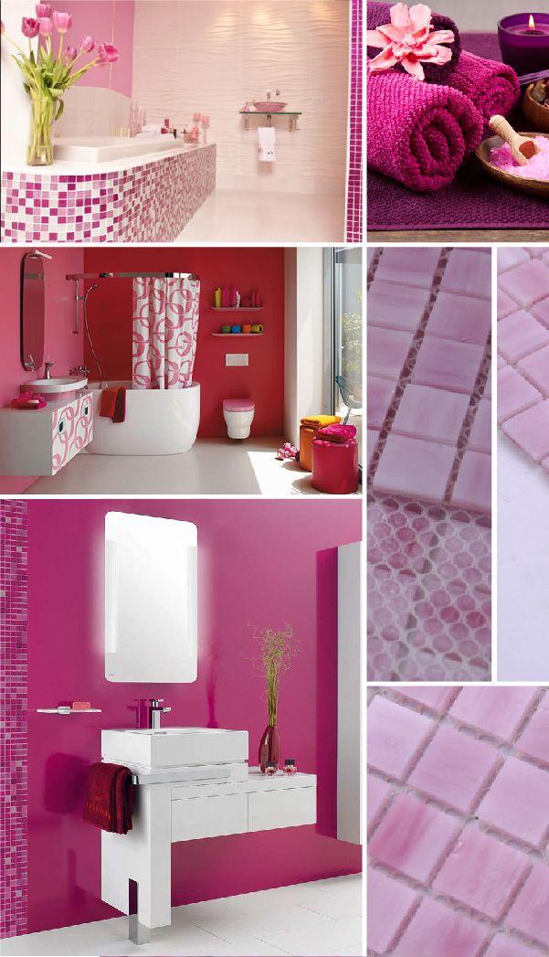 La influencia de los colores en el hogar te imaginas el color rosa para tu ba o el rosa es un - Que es un bano de color ...