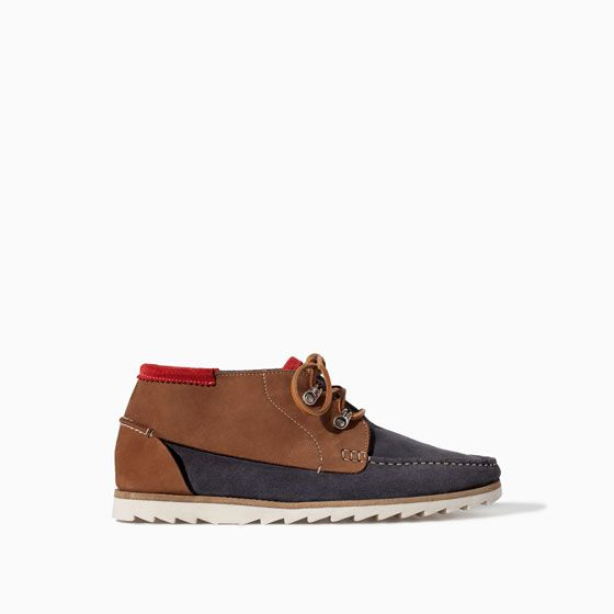 ZARA - MAN - LEATHER NAUTICAL ANKLE BOOT