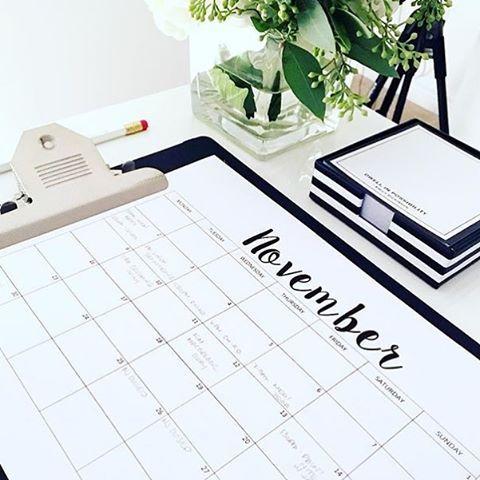 FREE Printable Calendar 2016 & Weekly Planner Printable