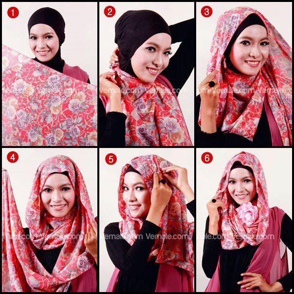 Tutorial Hijab Pashmina Bahan Siffon - Dorie Shop