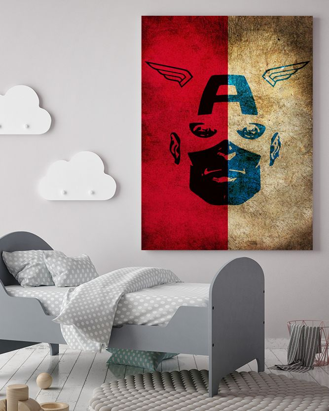 Captain America Canvas Art - Marvel Canvas Art @ http://artzeedesigns.com/products/canvas-art-marvel-inspired-art-comic-book-characters-captain-america-by-artzee-designs.html