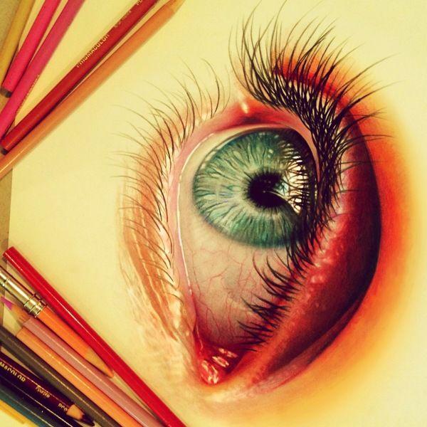 Você pode não acreditar que as imagens abaixo foram feitas por lápis de cor, mas é exatamente isso que fez Morgan Davidson. Ele que faz suas pinturas com de