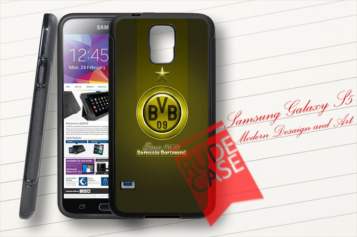 Samsung Galaxy S5 Custom Borussia Dortmund Football Club Logo Rubber Case