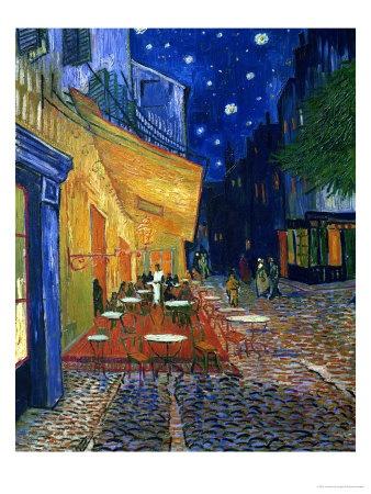 The Cafe Terrace on the Place du Forum, Arles, at Night, c.1888--Vincent van GoghDining Room, Vincent Vans, Cafes Terraces, Vans Gogh, Art Prints, Places Du, Art Com, Café Terraces, Vincent Van Gogh