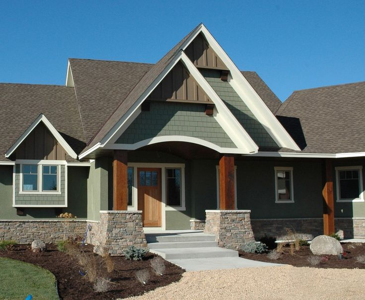 25 best ideas about green exterior paints on pinterest Best paint for exterior wood siding