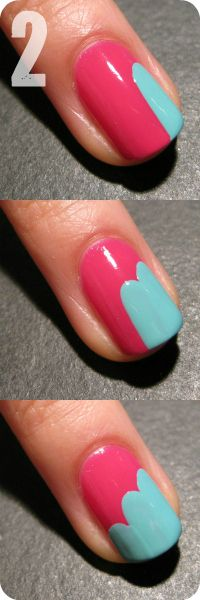 Freehand cloud design: Nails Art, Nails Design, Cute Nails, Cloud Nails, Nails Ideas, Nails Polish, Nails Tutorials, Easy Nails, Blue Nails