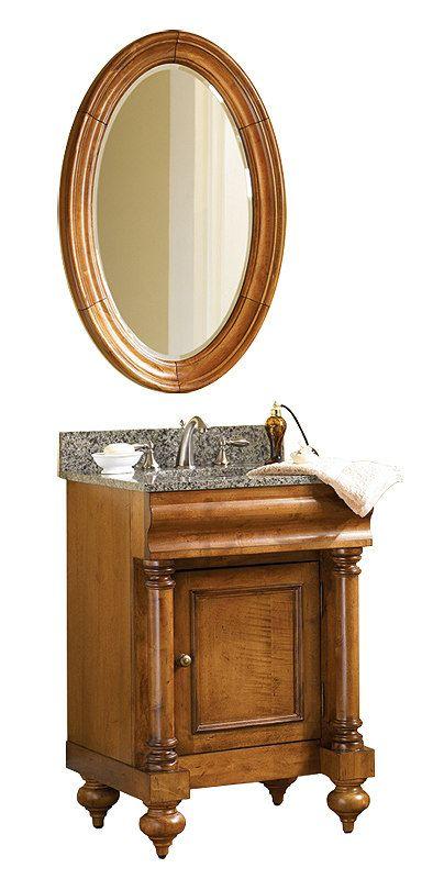 kaco guild hall 24 inch antique bathroom vanity gold hill black green or