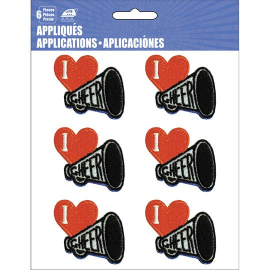 C&D Visionary Iron-On Applique Patch Set, Cheerleading Megaphones