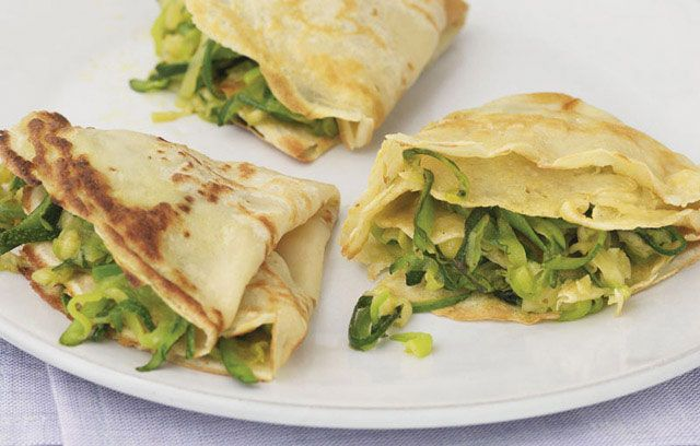 Pancakes with Courgettes and Emmental