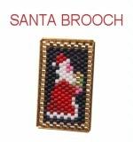 Santa Brooch By ThreadABead