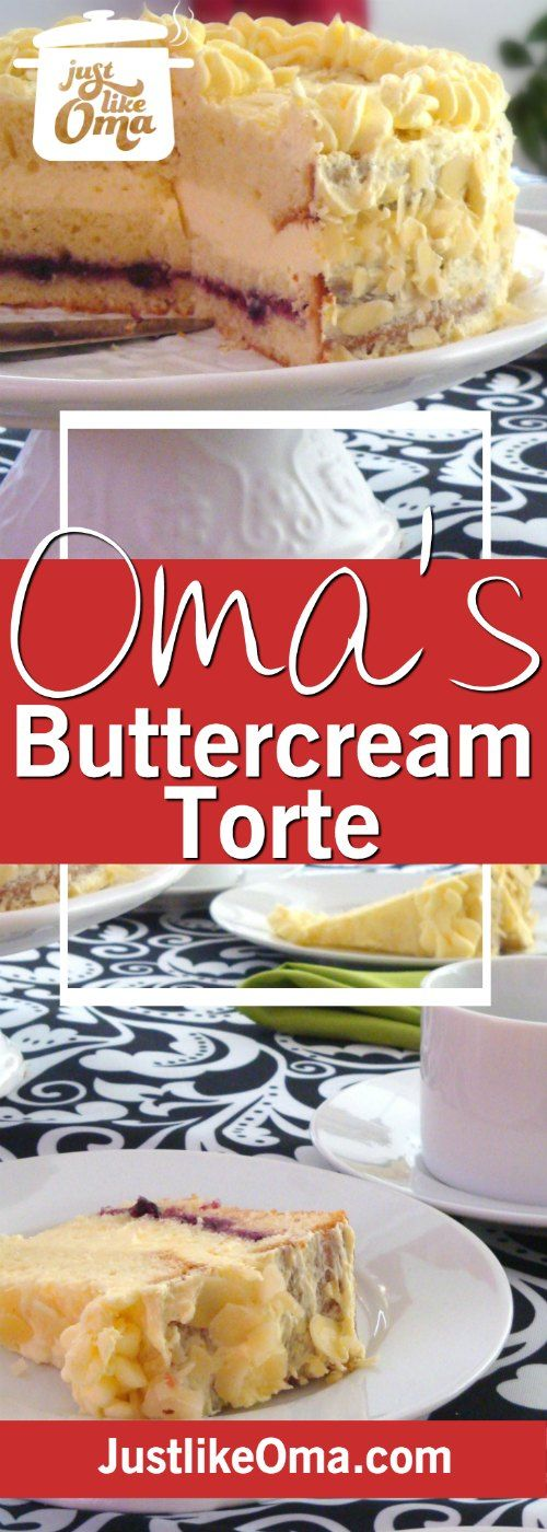 Make this easy buttercream frosting to use for some many traditional German cakes such as this Pineapple Buttercream Torte.
