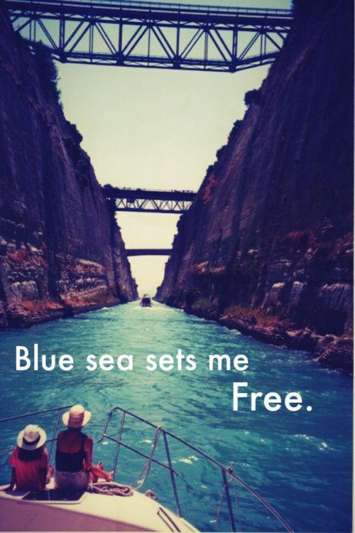 blue sea sets me free..