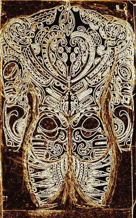 Maori Tattoo Style Full Body: Outline Of Full Body Tattoo