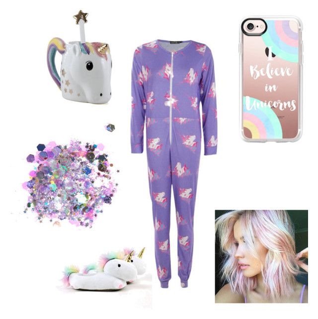 Unicorn by tiffany-facebook on Polyvore featuring polyvore, fashion, style, Boohoo, Smoko, Casetify, The Gypsy Shrine, Two's Company and clothing