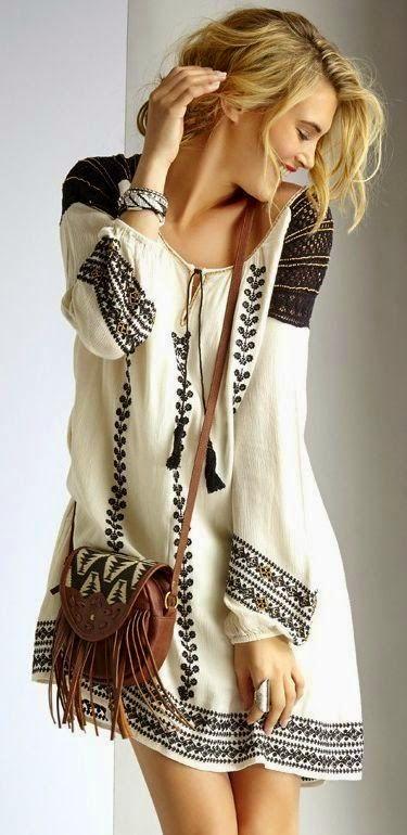 Street style | Spring boho casual dress