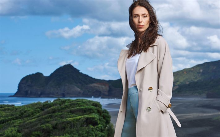 Download wallpapers Jacinda Ardern, 4k, New Zealand politician, beautiful woman, Prime Minister of New Zealand