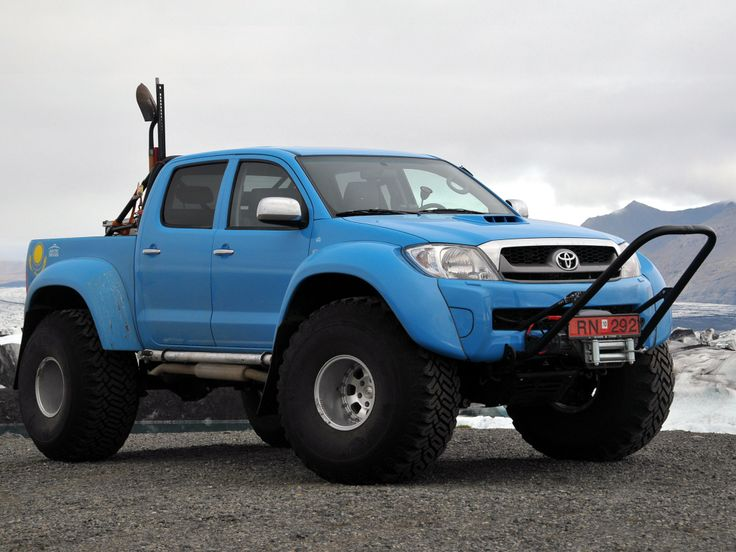 Blue Icelandic Toyota Hilux Arctic Truck
