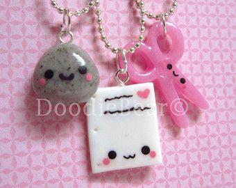 cute best friend jewelry | Best Friends Kawaii Peanut Butter and Jelly Toast by DoodieBear