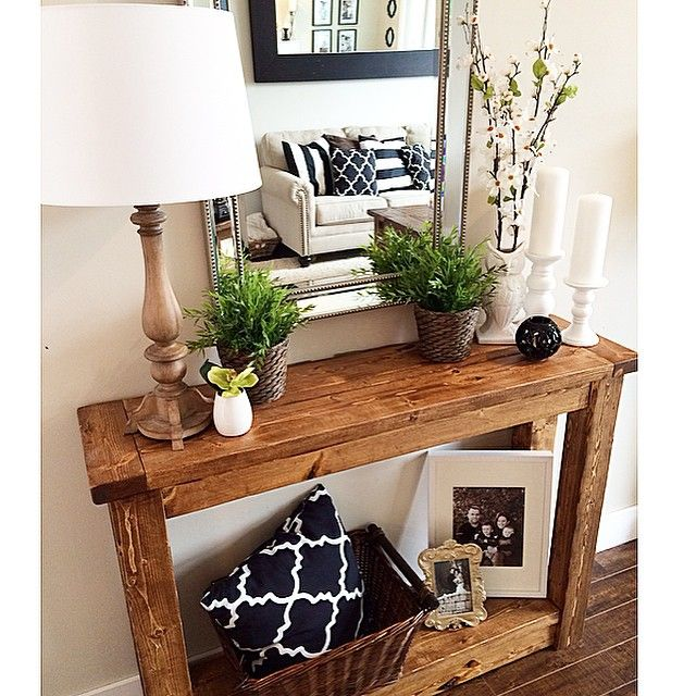 Best Console Table Decor Ideas On Pinterest Foyer Table