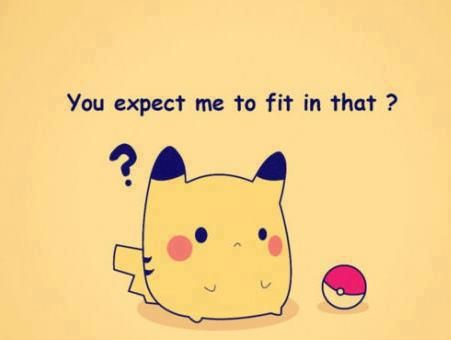 A Super Cute Pokemon Can't Fit In It's Pokeball?