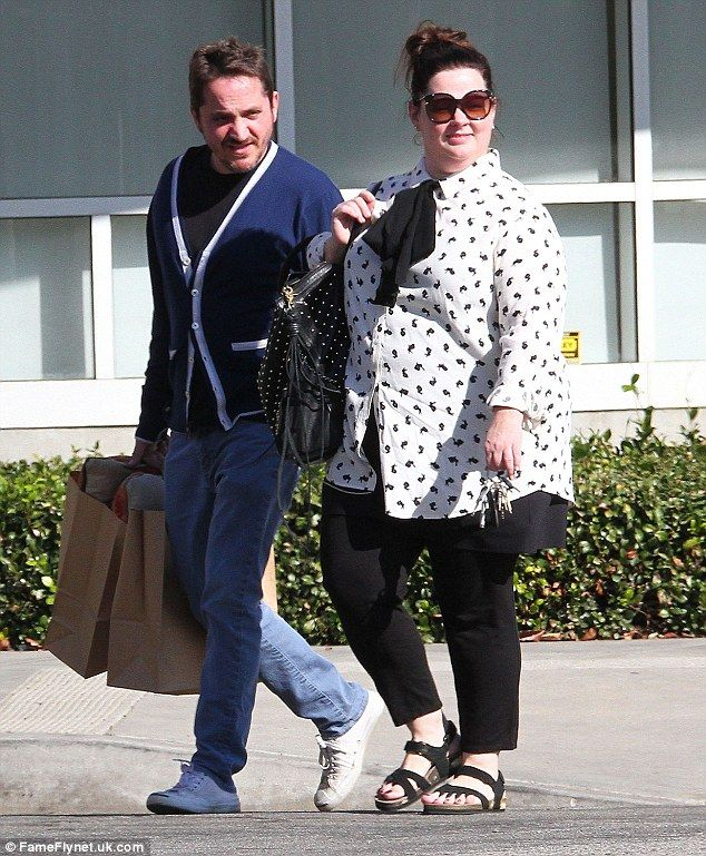 Just the two of them: Melissa McCarthy and husband Ben Falcone enjoyed some time away from their two children while shopping in Los Angeles on Saturday