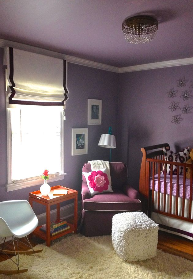 Nursery in Pantone's 2014 Color of the Year, Radiant Orchid.