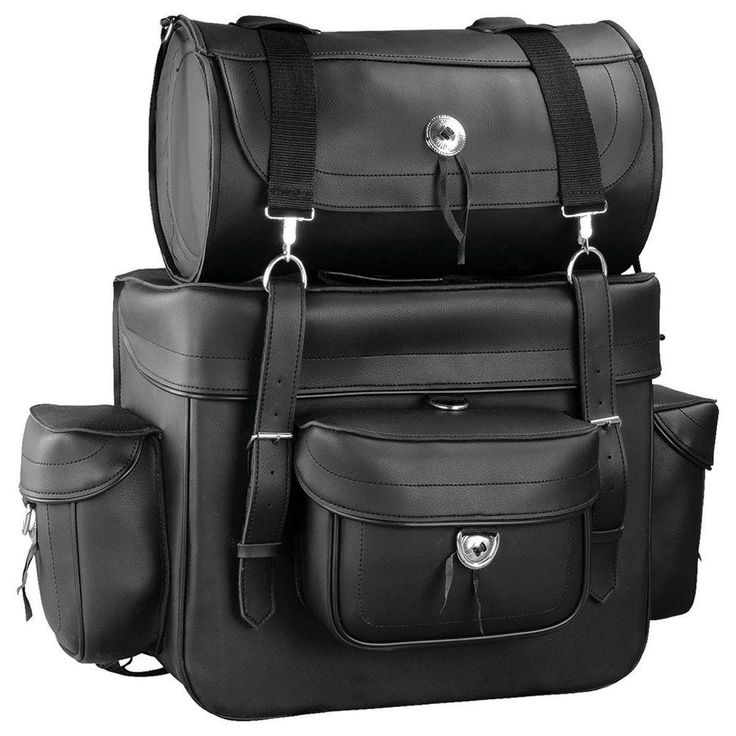 Motorcycle Touring Bag with Removable Roll Bag
