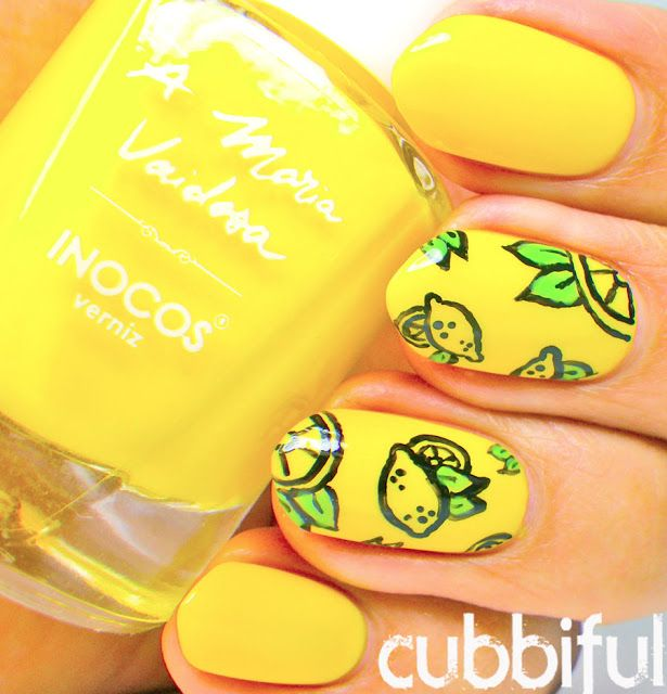Again the nail polish is awesome and love the lemons!