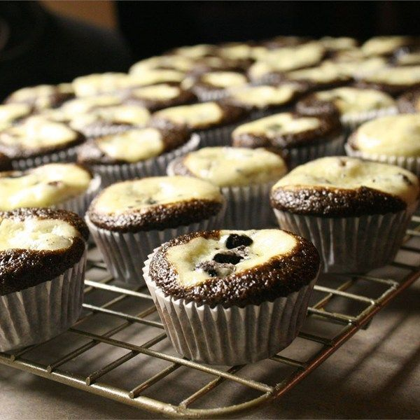 "Grandma Gudgel's Black Bottom Cupcakes | ""I made these for my friends birthday and they disappeared immediately. Even my friend who said they hate cream cheese really enjoyed these cupcakes. Not to mention they look incredibly cool. """