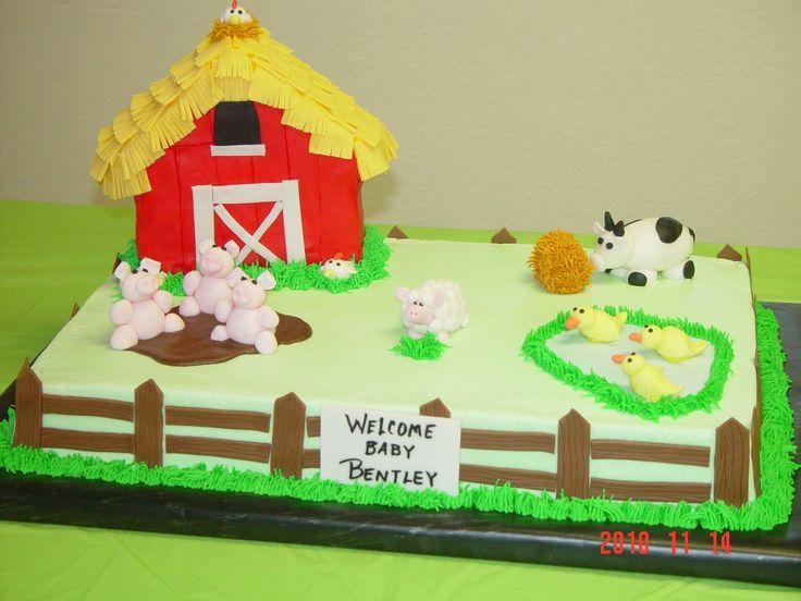 Farm Cake Decoration Ideas