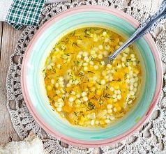 Куриный суп с кус-кусом птитим