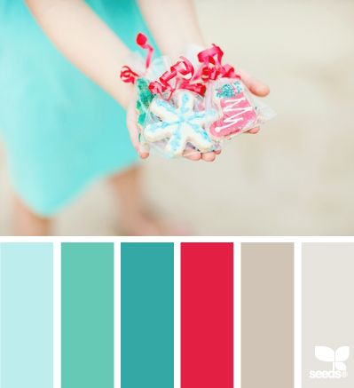 color share - one of my favorite color combinations for the holidays