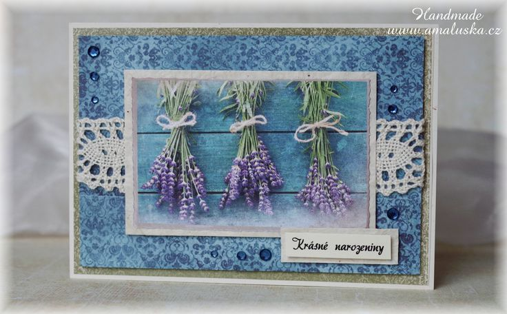 Lavender birthday card