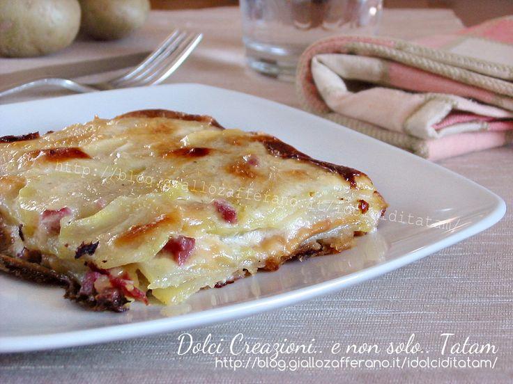 Millefoglie di patate e besciamella   ricetta