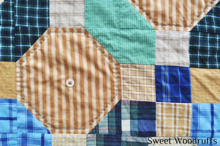 Sweet Woodruffs: Memorial Quilt out of Men's Shirts