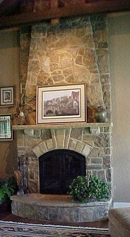 Beau Stone Fireplace   Traditional   Fireplaces     By Bennett Brothers Stone  Company