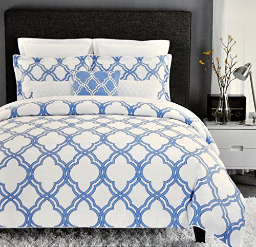 Max Studio Modern Lattice Geometric Pattern 3pc Full Queen