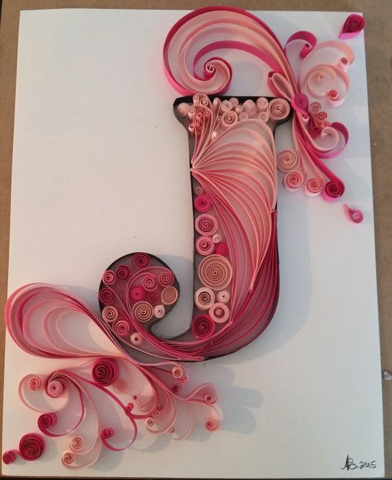 Quilled letters by Quillqueen1 on Etsy                                                                                                                                                                                 More