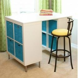 ELENA'S EXPEDIT COLLECTION: Turn Two EXPEDITS Into a Craft Table | Check out the amazing craft table that Ashley from Make It & Love It (http://www.makeit-loveit.com/) made with two EXPEDITS!