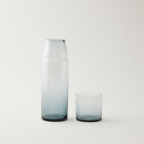 Hand-blown carafe with a built-in tumbler. Definitely buying this at some point.