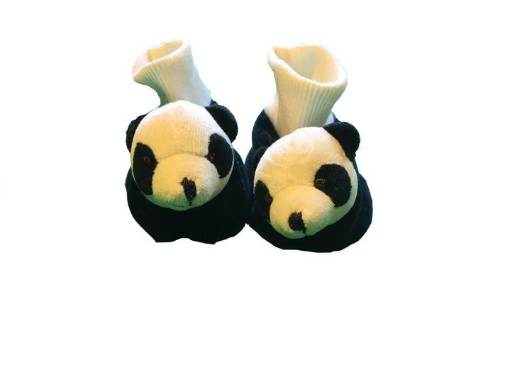 Neutral Slipper Socks (Size: 6-12 Months)