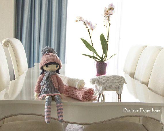 Masha Doll.  pdf knitting pattern. Knitted in the by deniza17
