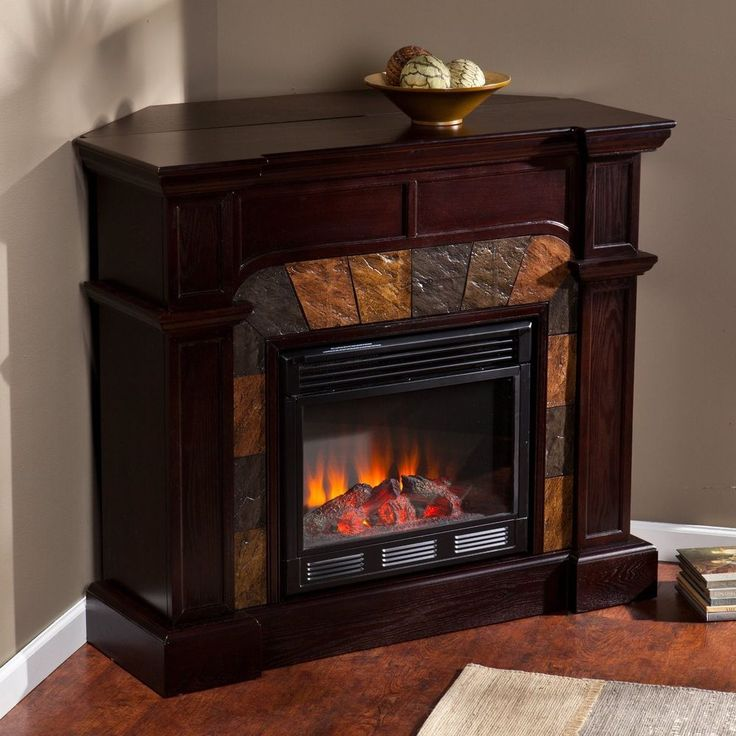 Ventless Freestanding Convertible Corner Wall Electric Fireplace Any Room Just For The Heck