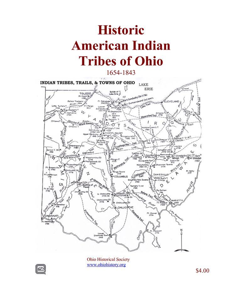 American Indian Tribes Of Ohio 16541843  Ohio