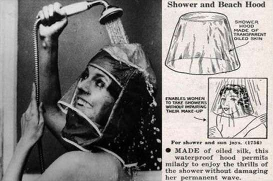 Inventions from the past vintage  Invenzioni del passato - L'antenata della cuffia da doccia