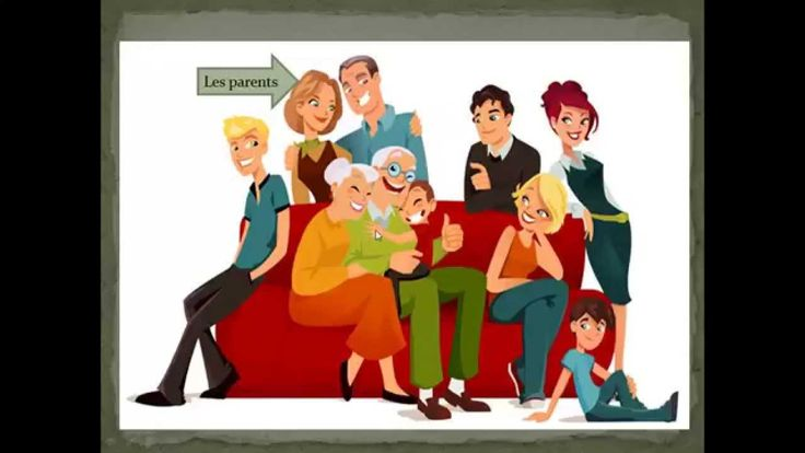 Vocabulario de la familia explicado en español para los hispanohablantes.