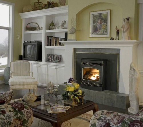 59 best fireplace stove ideas images on pinterest fire - Stufe a pellet da inserire nel camino ...