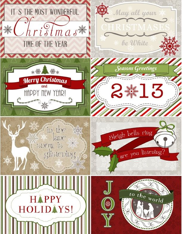 Treetop Glisten Free Christmas Labels & Digital Scrapbooking Papers | Worldlabel Blog