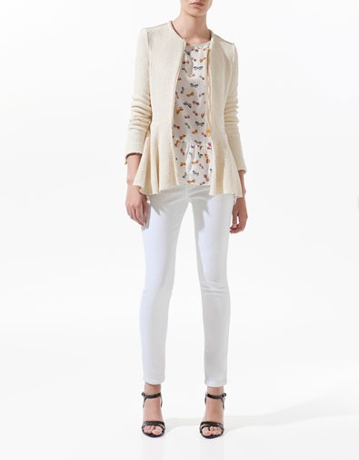 ZIPPED BLAZER WITH FRILL AT THE WAIST - Woman - New this week - ZARA United States
